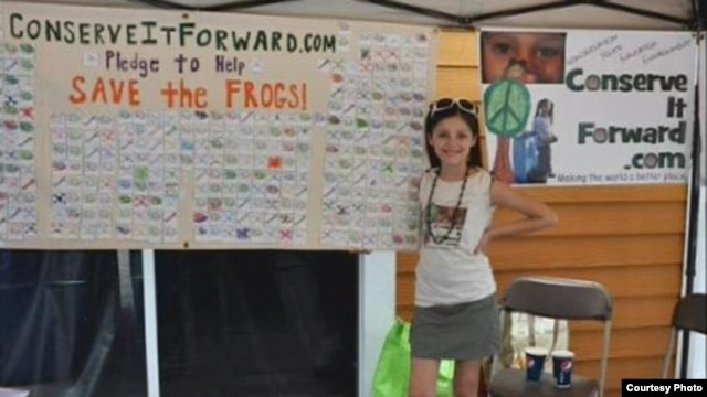 Avalon Theisen, 14, of Florida was honored with the Gloria Barron Prize for Young Heroes for her conservation work.