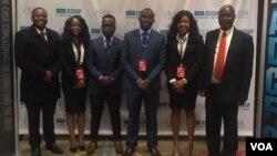 Izifundi zekolitshi leGreat Zimbabwe ezikumncintiswano weJessup International eWashington DC. Lapho zilomqondisi wazo uMnu. Victor Nkiwane.