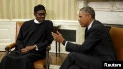 Shugaban Najeriya Muhammad Buhari da shugaban Amurka Barack Obama yau Yuli 20, 2015 yayin da suke ganawa.