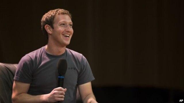 Facebook CEO Mark Zuckerberg, Oct. 2, 2012