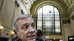 US Senator Richard Durbin is among the lawmakers underscoring the alliance between the United States and South Korea (file photo)