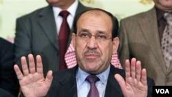 Perdana Menteri Irak Nouri al-Maliki.