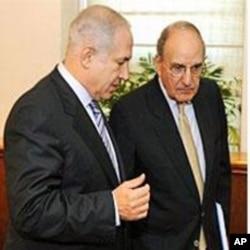 米切尔(右)在耶路撒冷会晤内塔尼亚胡