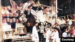 Trung Thu Hà Nội 1932 (tạo sắc từ ảnh của Bảo tàng Quai Branly)