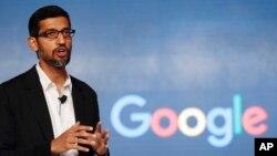 谷歌首席执行官皮查伊。