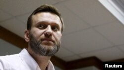 "Russian anti-corruption campaigner and opposition figure Alexei Navalny is seen attending a hearing at the Moscow City Court in Moscow, Russia, Feb. 12, 2016. VOA spoke to him on possible repercussions for the Russian elite of the release of the ""Panama Papers."""