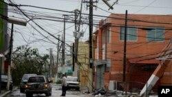 波多黎各遭受飓风玛利亚袭击之后的街头