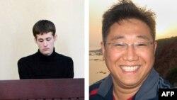 Kenneth Bae (kanan) dan Matthew Todd Miller, dua warga Amerika yang ditahan Korea Utara.