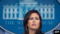 Пресс-секретарь Белого дома Сара Сандерс (архивное фото)