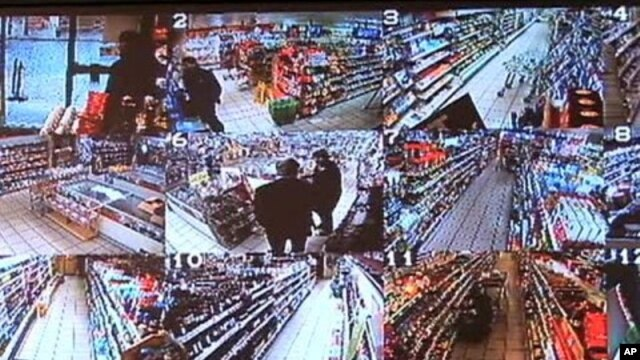 "Live close-circuit TV images from store security cameras across Britain are streamed over the web as part of the ""Internet Eyes"" service"