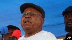 L'opposant Etienne Tshisekedi tient un meeting à Kinshasa, RDC, 31 juillet 2016.