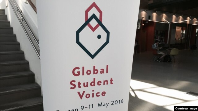 ေနာ္ေ၀းႏုိင္ငံ၊ Bergen ၿမိဳ႕မွာ ေမလ ၉ ရက္ကေန ၁၁ ရက္ေန႔ အထိက်င္းပေနေသာ Global Student Voice  ႏုိင္ငံတကာ ေက်ာင္းသားမ်ား ညီလာခံ။  (Courtesy Photo)
