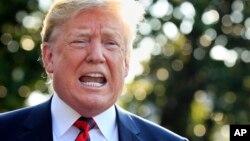 도널드 트럼프 미국 대통령이 8일 G7 정상회의에 참석하기 위해 백악관을 출발하기에 앞서 기자들에게 다가오는 미북 정상회담에 관한 입장을 밝혔다.