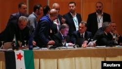 시리아 반정부연합체가 10일 스페인에서 협의회를 진행하고 있다.