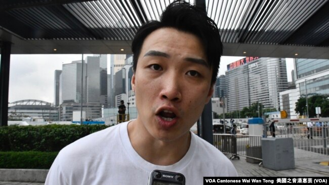 Jimmy Sham, un líder de las protestas en Hong Kong, fue agredido el miércoles 16 de octubre por hombres armados con cuchillos y martillos