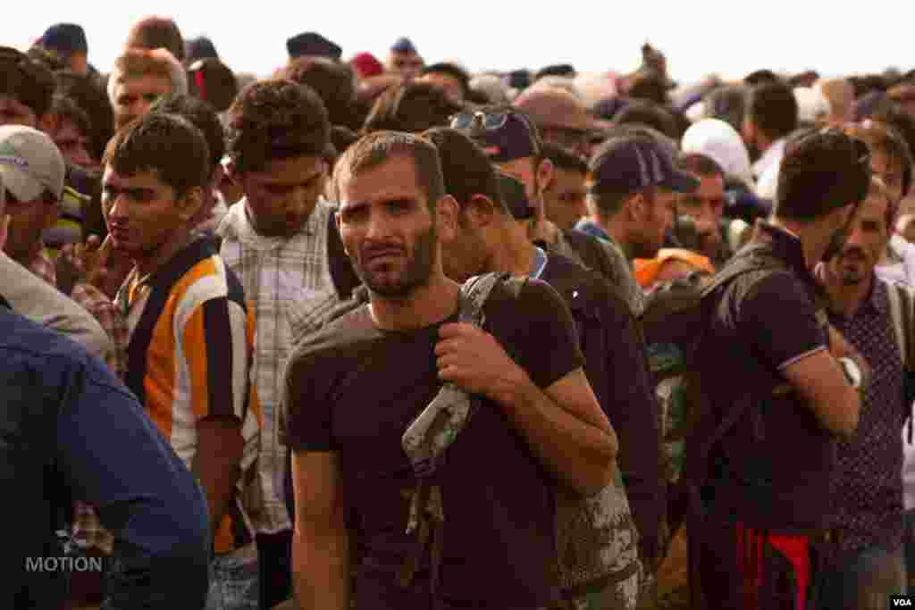 مہاجرین کو بسوں کے ذریعے جرمنی کے شہر میونخ سے ارفرٹ منتقل کیا جا رہا ہے۔ جرمنی نے لاکھ مہاجرین کو قبول کرنے کا اعلان کیا ہے۔