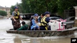 En images : inondations au Texas
