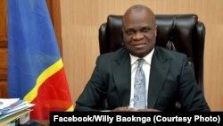 Willy Bakonga ministre ya kelasi ya nse, kati kati mpe ya nse (EPST), na Kinshasa, RDC, 19 décembre 2019. (Willy Bakonga)