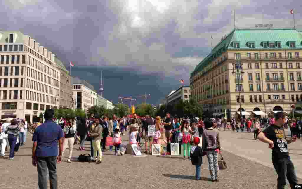 Berlin, Brandenburq qapıları.