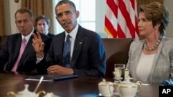 Президент США Барак Обама проводит встречу с членами Конгресса
