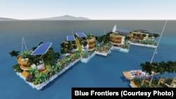 Модель острова, що плаває