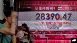 香港證券交易所股票指數。
