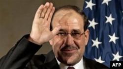 Irački premijer Nuri al-Maliki posle obraćanja članovima američke Trgovinske komore, 13. decembar 2011.