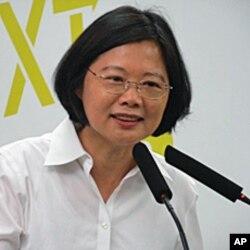 台湾民进党总统候选人蔡英文