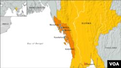 緬甸位置圖