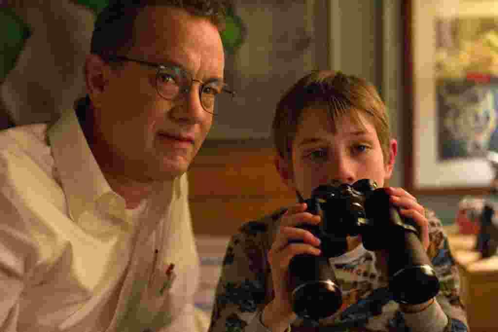 »شدیدا پرصدا و عمیقا نزدیک » نامزد رشته بهترین فیلم. تام هنکس (چپ) و مکس فون سیدو (راست)، نامزد بهترین بازیگر مرد مکمل