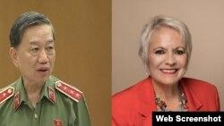 Bộ trưởng Công an Tô Lâm và Dân biểu Tiểu bang Geneve Anne Marie Von Arx-Vernon.