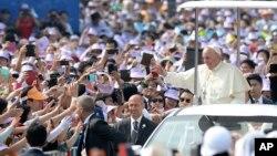 프란치스코 교황 방한 시민 표정