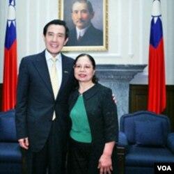 陈树菊受马英九总统接见