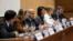 美国常驻联合国代表妮基·黑利参加在日内瓦举行的有关委内瑞拉危机的特别论坛。(2017年6月5日)