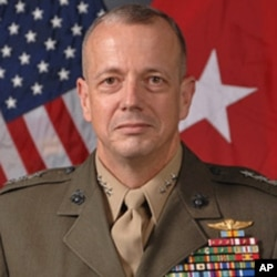 John R. Allen is a United States Marine Corps lieutenant general. He serves currently as the deputy commander of United States Central Command, under General James Mattis. He is expected to be nominated by President Barack Obama to serve as Commander, Int