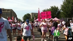 "Thousands of people participate in the ""Race for the Cure"" in Washington, D.C., June 4, 2011"