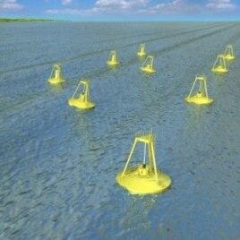 Ocean Power Technologies' rendering of wave energy park