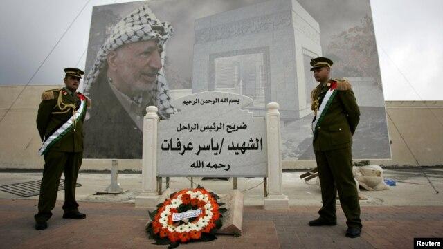 Nơi mai táng của cố lãnh tụ Palestine Yasser Arafat ở thành phố Ramallah (ảnh tư liệu)
