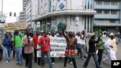 Manifestations à Nairobi au Kenya