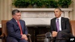 Абдаллa II и Барак Обама
