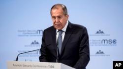 რუსეთის საგარეო საქმეთა მინისტრი, სერგეი ლავროვი მიუნხენის უსაფრთხოების კონფერენციაზე