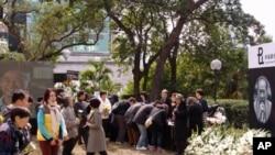 香港民众吊唁司徒华