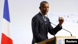 Predsednik Barak Obama govori na konferenciji o klimatskim promenama u Parizu