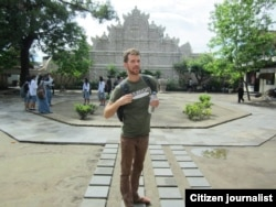 Chris Crow saat berkunjung ke Istana Air Yogyakarta (foto/dok: Chris Crow)