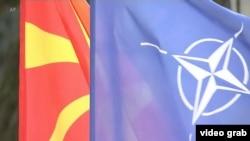 Zastave Sjeverne Makedonije i NATO, Foto: video grab