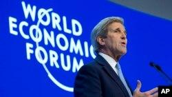 El secretario de Estado, John Kerry, habló este viernes durane el Foro Económico Mundial de Davos, Suiza.
