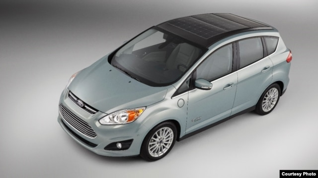 Ford's C-MAX Solar Energi Concept car is seen in an image provided by the company.