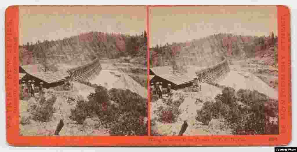 在美国修建铁路的华人劳工(加州萨克拉门托加利福尼亚州立图书馆加利福尼亚历史厅提供)