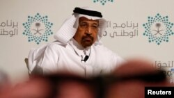 Saudi Energy Minister Khalid al-Falih attends a news conference announcing the kingdom's National Transformation Plan, in Jeddah, Saudi Arabia, June 7, 2016.