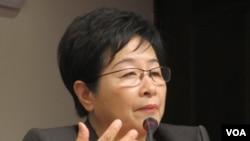 台湾在野党民进党立委陈节如(美国之音张永泰拍摄)